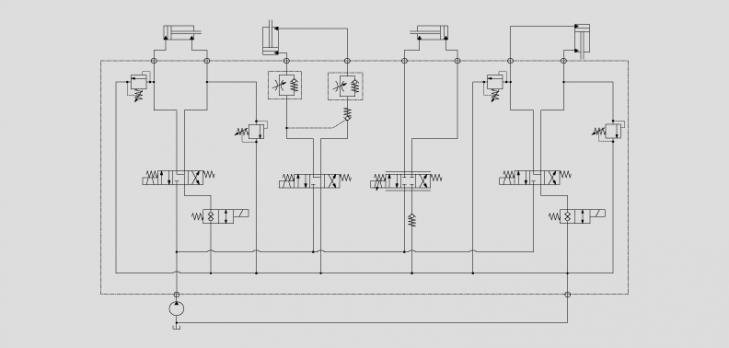 油缸升降控制电路图