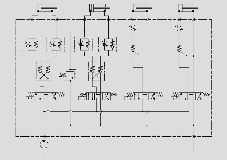 电磁阀控制油缸的运动方向