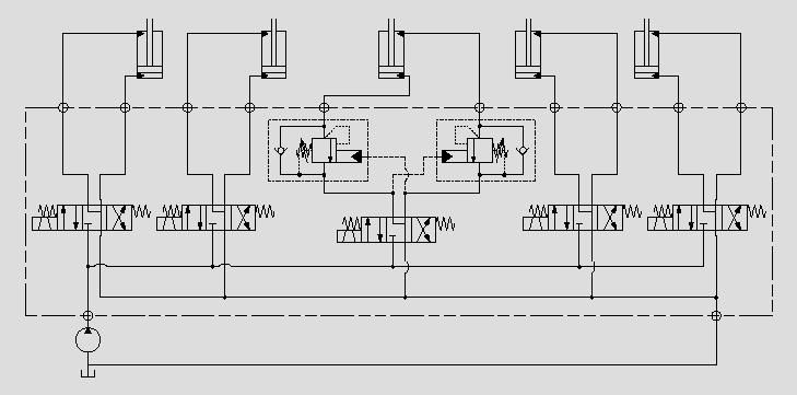此原理图应用于升降油缸负载稳定控制