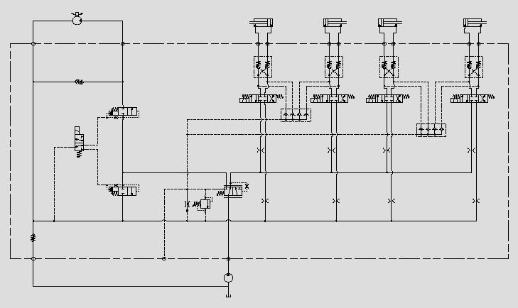 液压锁电磁阀控制属具
