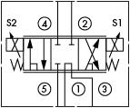 原理图为海德福斯的电比例方向阀,型号为:SP10-58C。