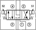 原理图为海德福斯的电比例方向阀,型号为:SP08-58D,SP10-58D。
