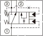 原理图为海德福斯的直动式顺序阀,型号为:KS10-31。
