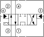 原理图为太阳液压的液控两位四通阀,型号为:DCCD-XTN, DCDD-XTN, DCED-XTN, DCFD-XTN。